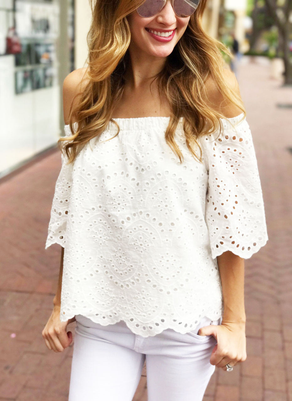 Krutcher Top in White