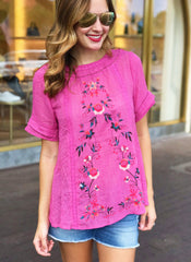 Sarita Top in Pink