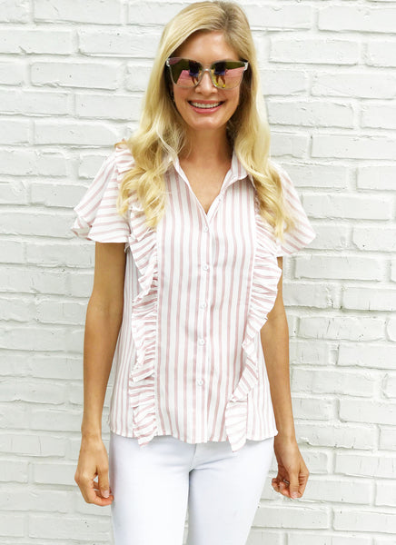 Nicole Top in Blush