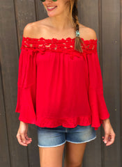 Shaline Top in Red