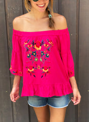 Corinne Top in Pink