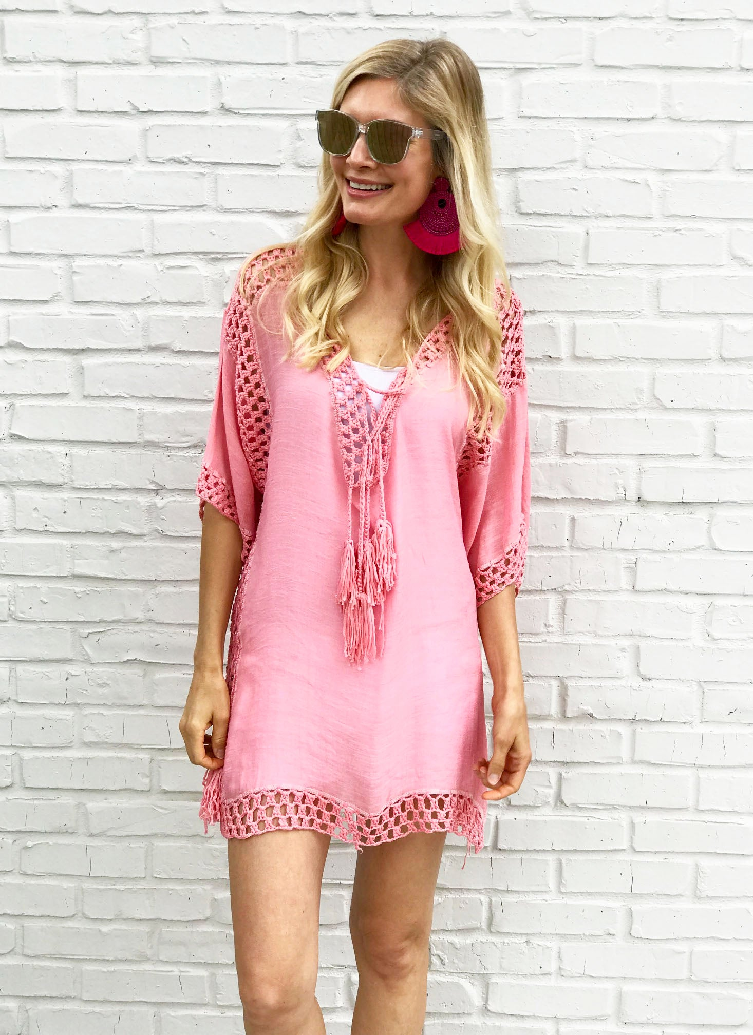 Carolyn Coverup in Coral