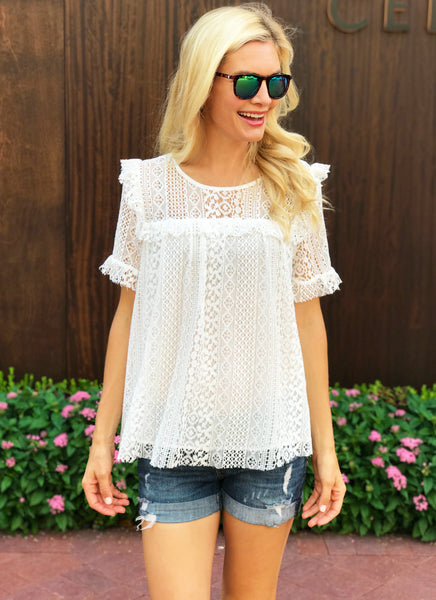 Sally Top in White