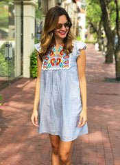 Laine Dress in Blue