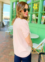 Mary Top in Blush