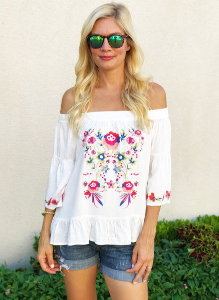 Corinne Top in White