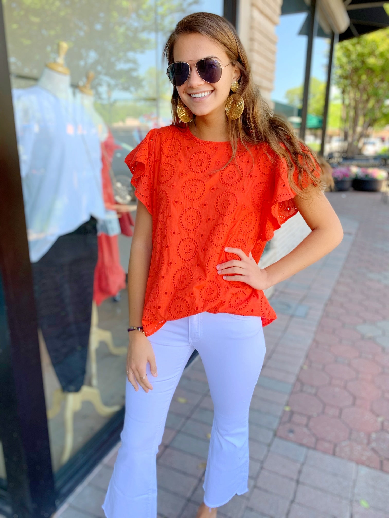 Mallie Top in Red