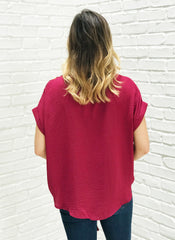 Amanda Top in Burgundy