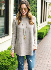 Kensley Top in Taupe