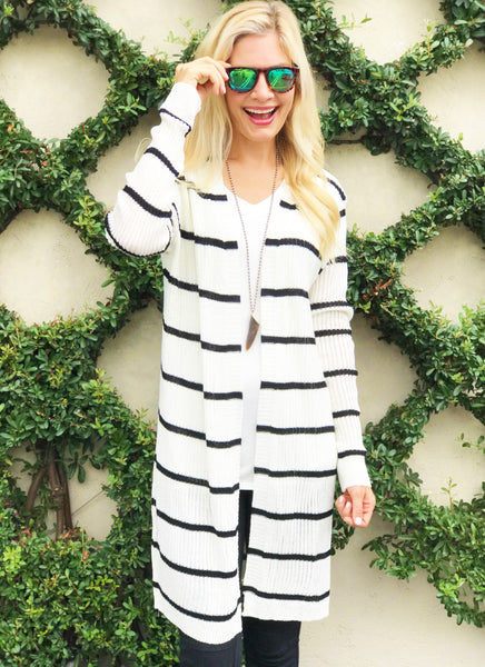 Katelyn Cardigan in Black and White
