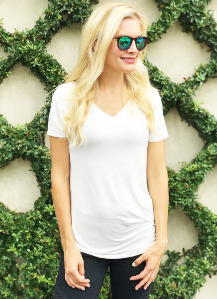 Millie Tee in White