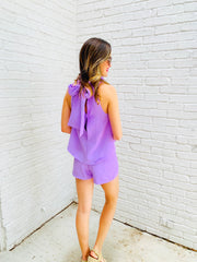 Poppy Romper in Lavender