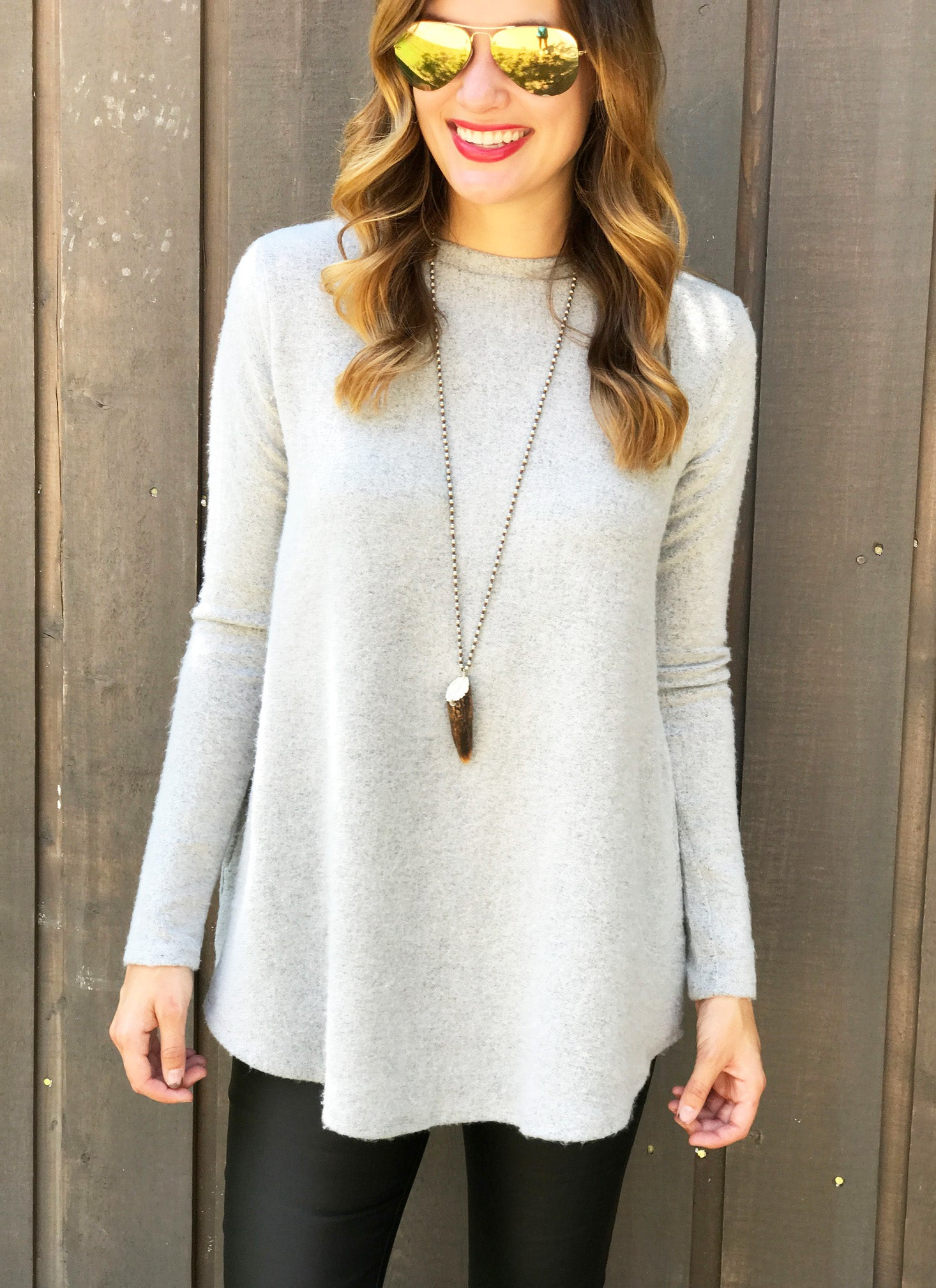Kensley Top in Light Grey