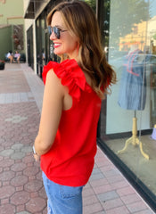 Ella Top in Red