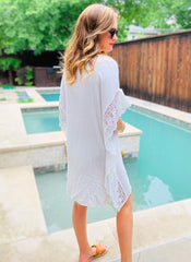 Sandy Coverup in White