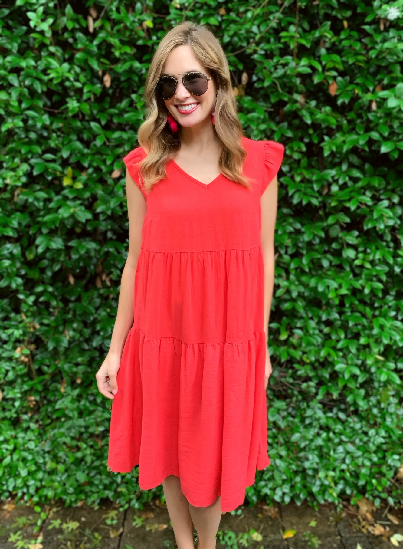 Carrie Dress in Red