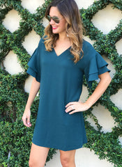 Christina Dress in Teal