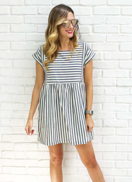 Krystal Dress in Navy