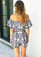 Celine Romper in Navy
