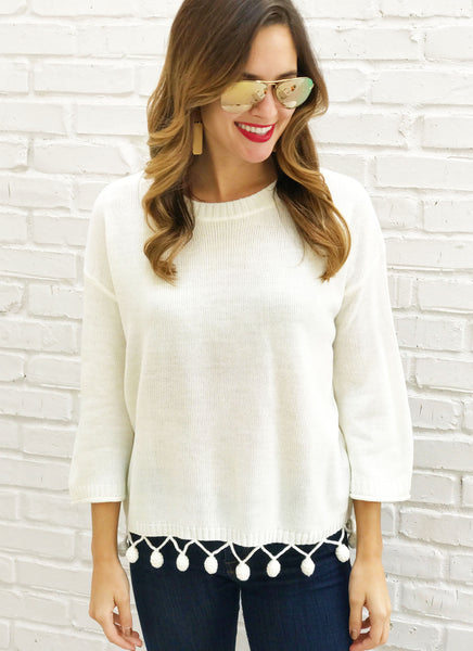 Lizzy Sweater in Ivory