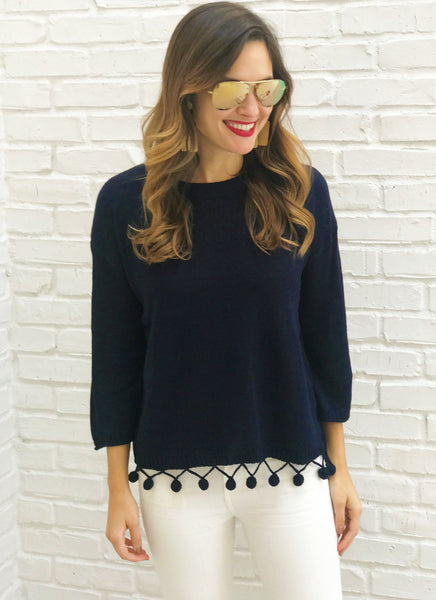 Lizzy Sweater in Navy