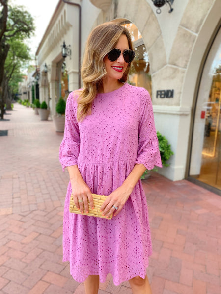 Kellie Dress in Mauve