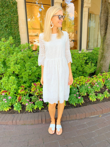 Kellie Dress in White
