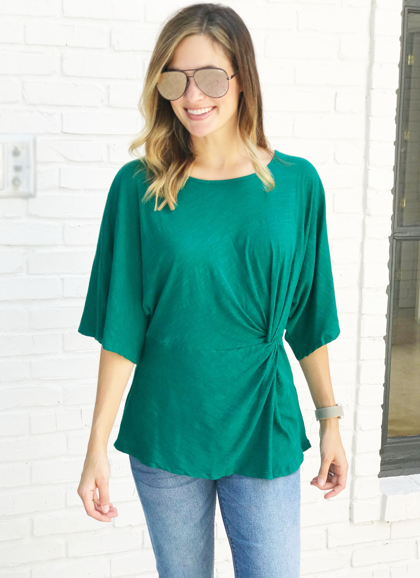 Antonia Top in Jade