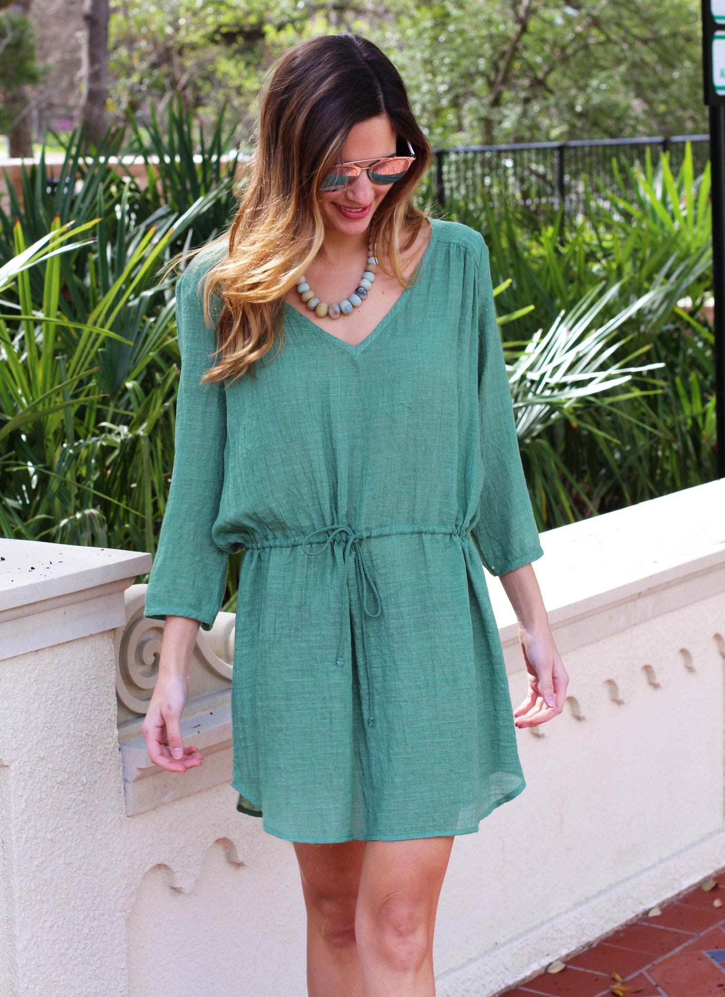 Adrienne Tunic Dress in Moss