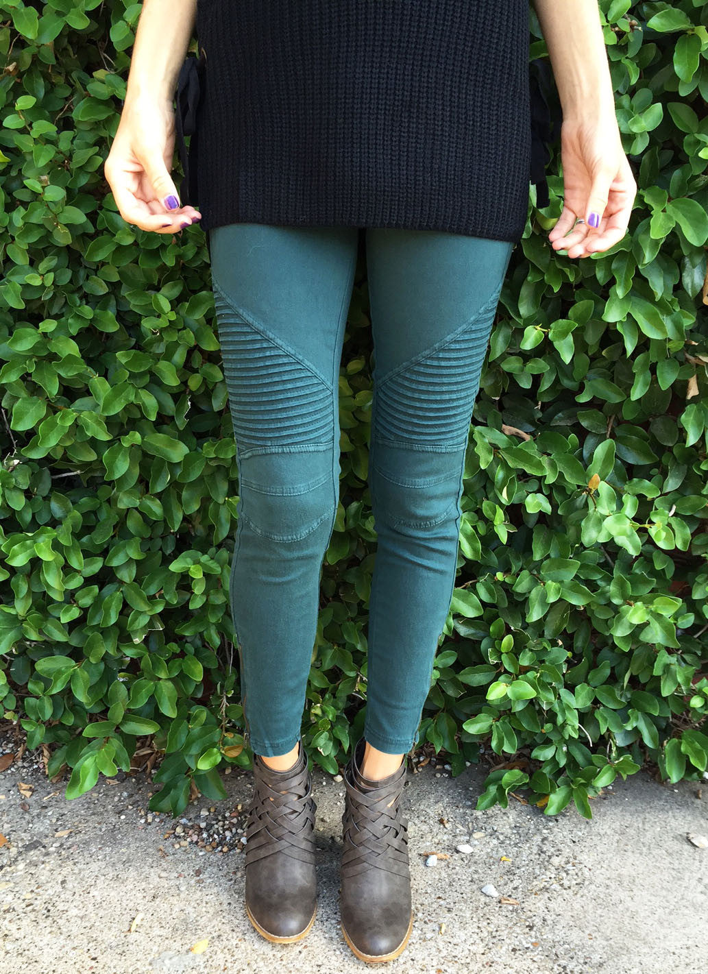 Jax Moto Leggings in Forest