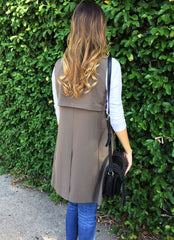 Ginna Trench Vest in Olive