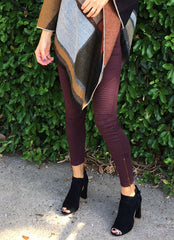 Jax Moto Leggings in Burgundy