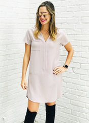 Sully Dress in Stone