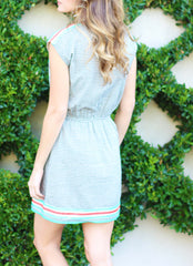 Birdie Dress in Blue