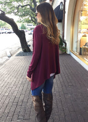 Scarlett Sweater in Wine