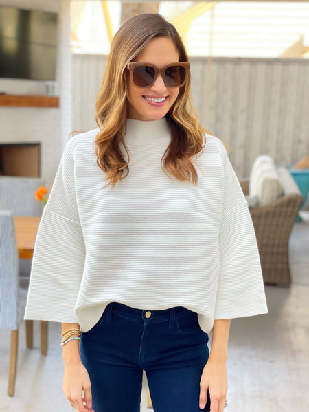 Elle Sweater in White