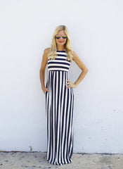 Hayden Maxi Dress in Stripe