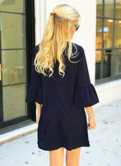 Bridger Dress in Navy