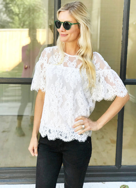Alda Top in Ivory