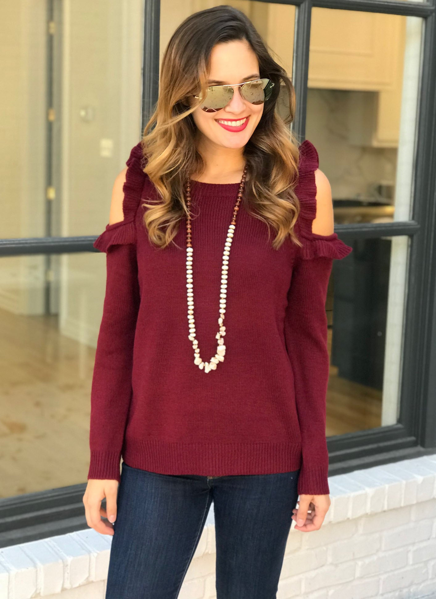 Breena Sweater in Wine