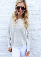 Camille Sweater in Light Grey