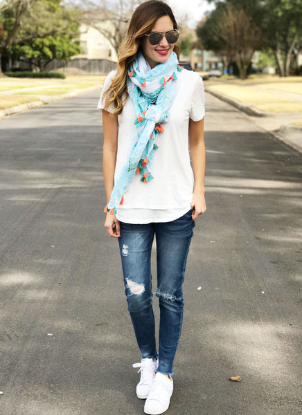 Krysta Scarf in Turquoise