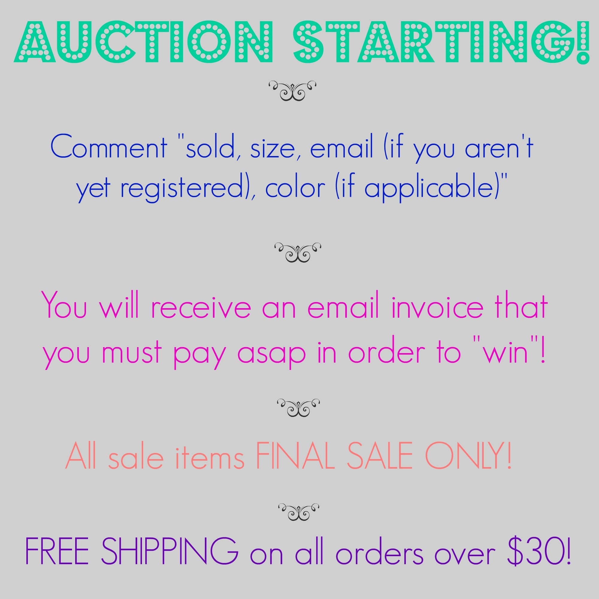 Auction Starting!