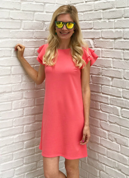 Belle Dress in Coral