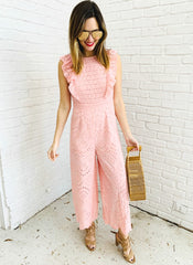 Devin Romper in Blush