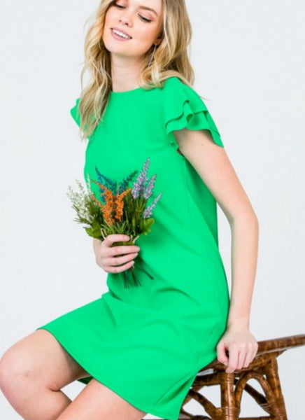 Belle Dress in Green
