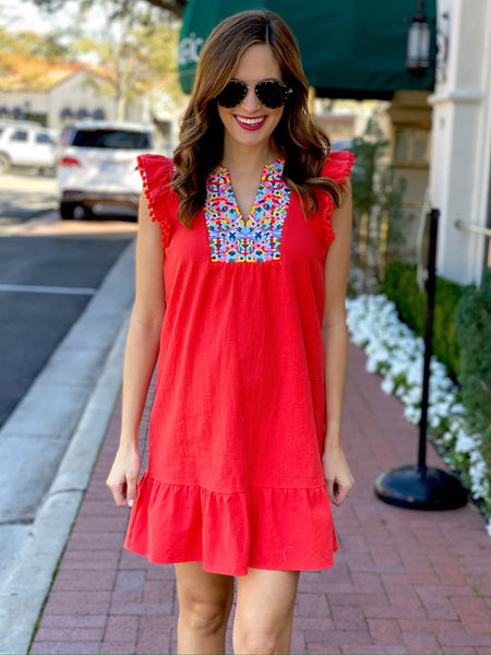 Aviva Dress in Red