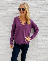 Tierney Sweater in Purple