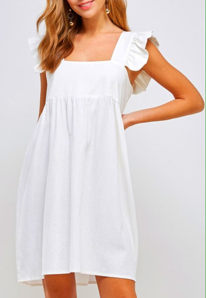 Catherine Dress in Off White (Ships Mid April)