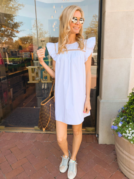Claire Dress in White (Ships Next Week)
